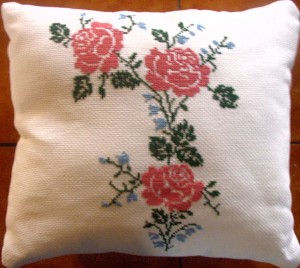 coussin-roses