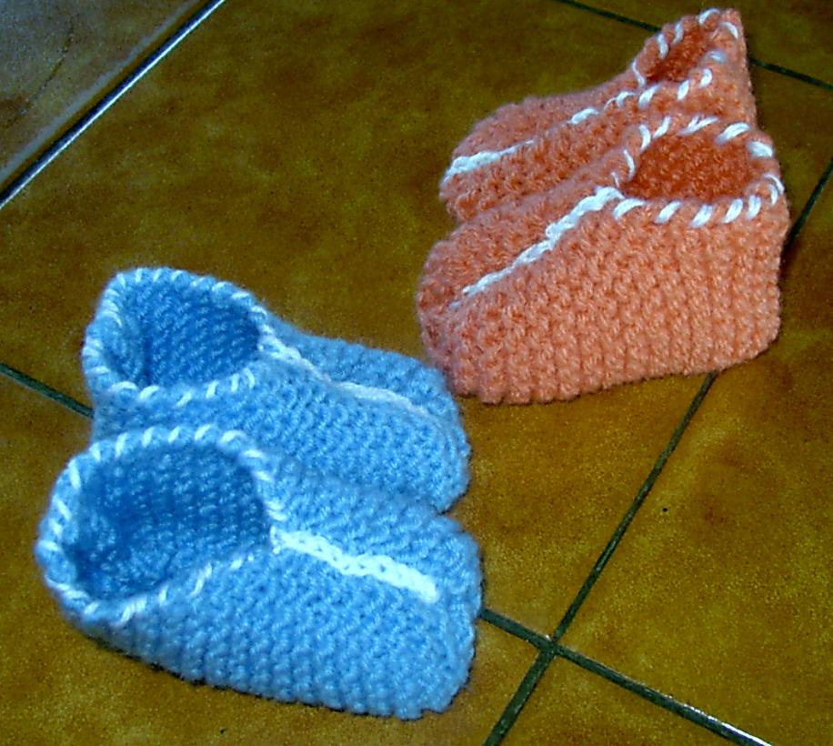 patron tricot chausson bébé facile