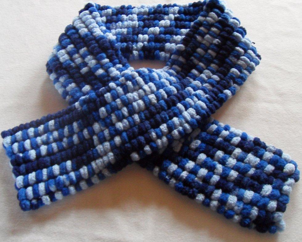 tricoter une echarpe laine boule