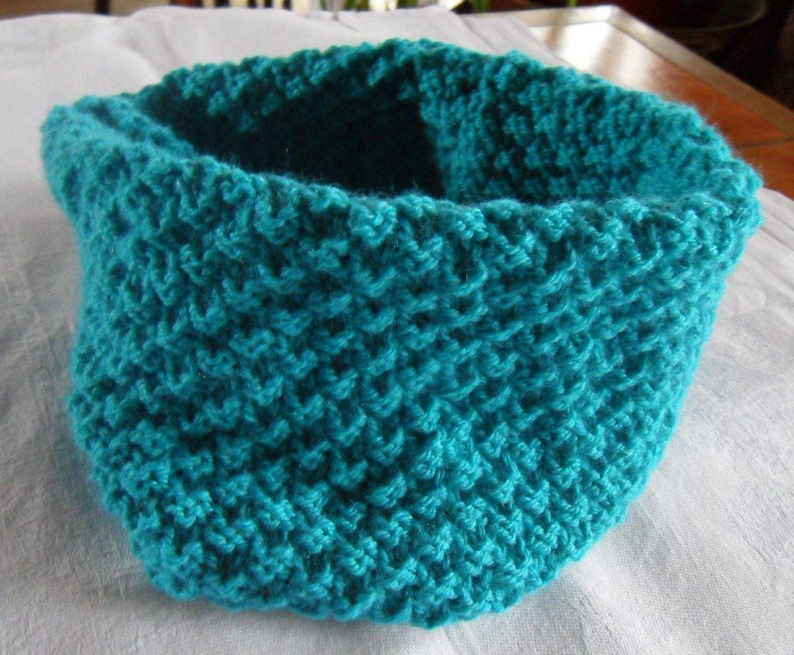 tricoter un cache cou