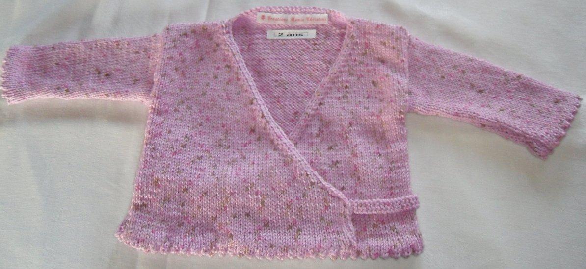 tricot cache coeur fille
