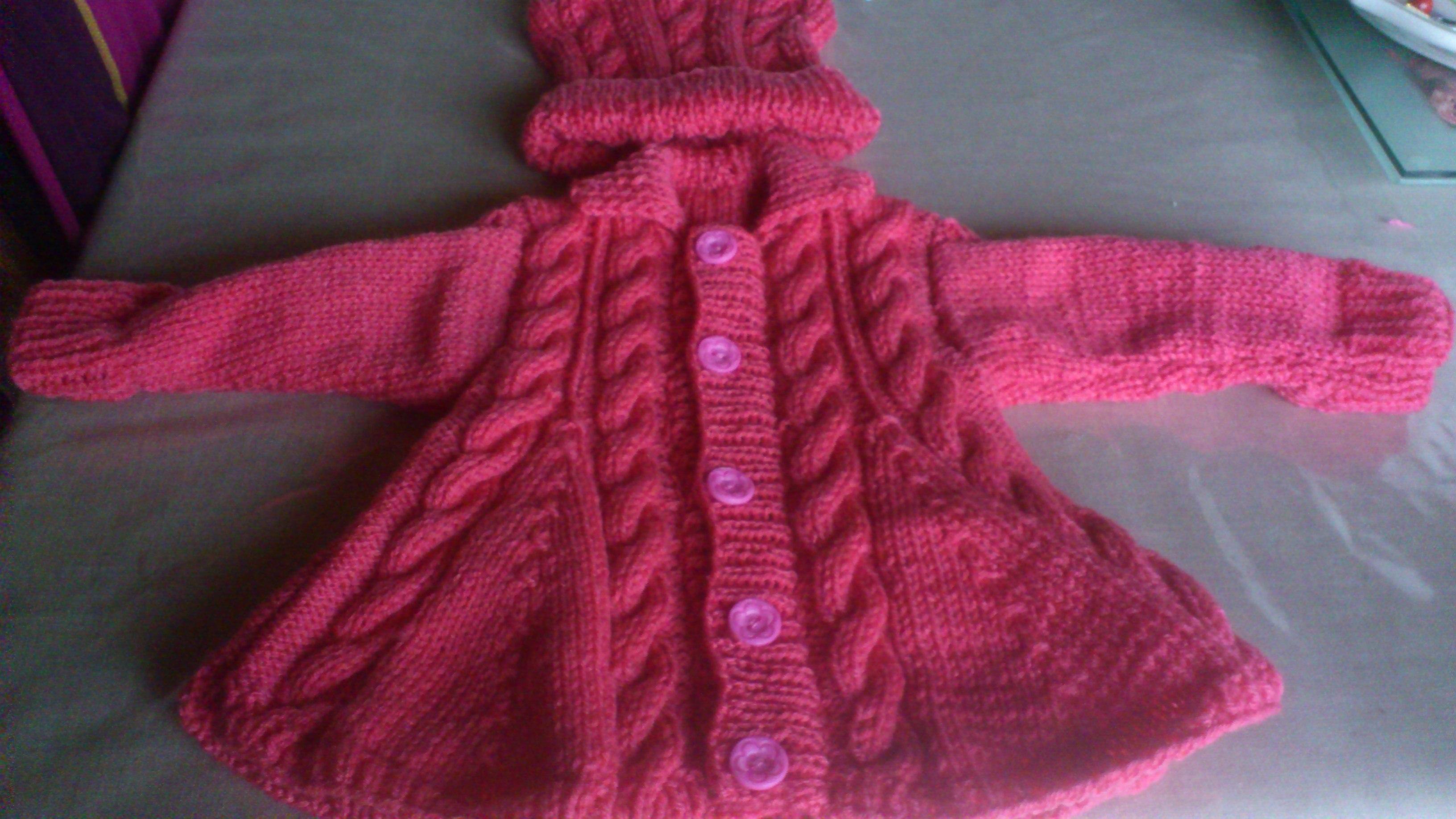 Petit manteau b b torsades activit s cr atives et tricot - Cote 2 2 tricot ...