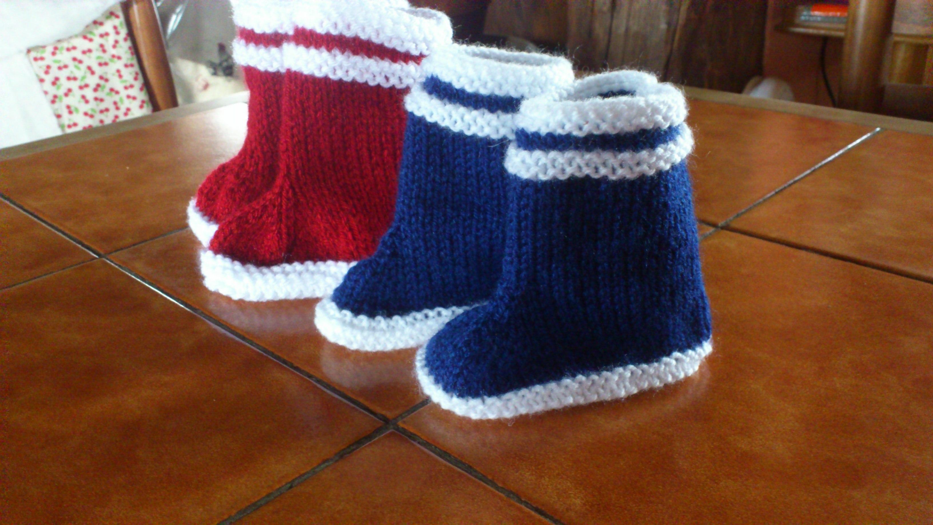 comment tricoter des bottes pour bebe