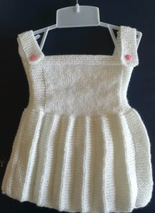 Robe plissée pour fillette 1 an