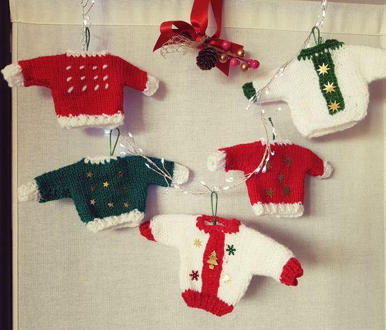 Mini pulls de Noël